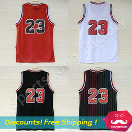 Wholesale Top quality Jerseys Classical Black Red White Basketball Jersey Men Sports wear embroidered Logos Cheap sports shirts