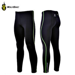 Wholesale WOLFBIKE Mens Compression Tights Tight Base Layer Skins Running Run Fitness Excercise Cycling Clothing Bicycle Bike Pants Gear