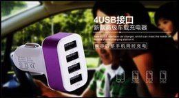 4 USB Car Charger High Quality 5V 2.1A USB 4 Port Car Cigarette Lighter Socket Car Charger Adapter For Most Phones