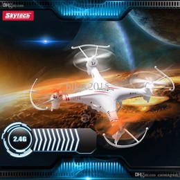 Promotion vidéo rc Gros-2015 Skytech M62R 2.4GHz 4 canaux 0.3MP caméra RC Quadcopter Drone avec caméra RC Helicopterof 6 Axis Gyro avec enregistrement vidéo