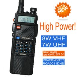 Wholesale two way radio walkie talkie UV HX baofeng Pofung uv r triple power version w w watts VHF UHF dual band ham radio