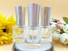 hot 10ml perfume bottles wholesale, transparent glass square bottles for perfume, 10 ml perfume points bottling portable bottle