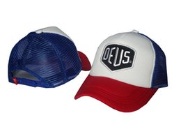 white blue red DEUS mesh Casual Baseball Cap Outdoors Leisure Snapback hats for Men Women Hiphop Hunting Hats Casquette Peacked Cap PPMY