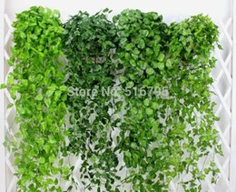 Wholesale 120cm cm Artificial Grape leaves Wall Hanging Green plants Home Decoration Ivy Simulation Rattan Green Pineapple