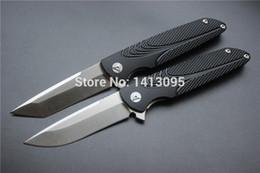 Wholesale Brian Nadeau Tactical Survival Typhoon Flipper Bearing Folding Knife D2Stain Blade Black Alu Sheet Handle EDC tool