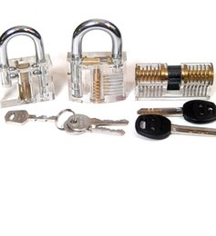 Wholesale HOT Affordable Rates different transparent practice padlock include wafe lock AB kaba lock andpadlock