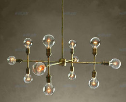12 heads chandelier for living room hotel hall museum modern pendant lamp bronze color unique design suspension lighting vintage style metal
