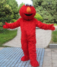 Wholesale 2016 DHigh quality Adult adults elmo mascot costume sales high quality Long Fur Elmo Mascot Costume