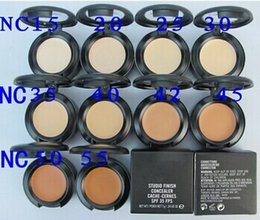 Free Shipping--New Studio finish concealer cache-cernes SPF 35 fps 7g in box (12pcs   lot) #2156