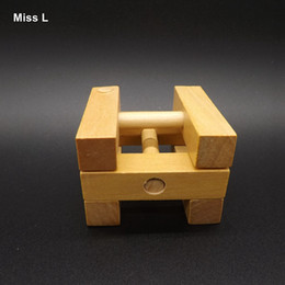 Square Lu Ban Lock Toy Wooden Games For Adult, Puzzles Toy Children Aged Care Brain Games
