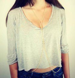 Wholesale Necklaces Body Chain Fashion Women Sexy Summer Gold Silver Plated Alloy Fish Bone Body Jewelry Drop Shipping BC021