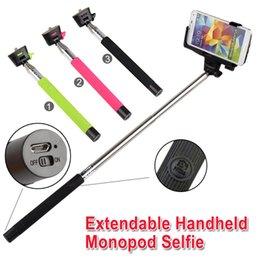 Wholesale Z07 Extendable Self Pau De Palo Selfie Stick Monopod Bluetooth for iPhone Samsung Android Da Monope Para Tripe Monopad Gopole