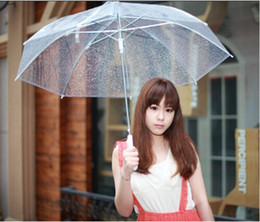 Wholesale Clear Transparent Umbrella See Through Fashion Star Long Handle Umbrellas Beach Wedding Graceful Colorful Transparent Hot