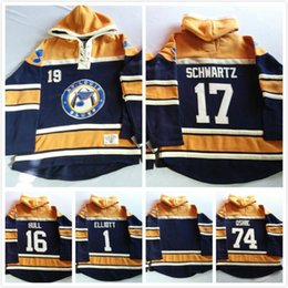 2016, Old Time Hockey Hoodies Jersey St. Louis Blues 17# Jaden Schwartz 19# Jay Bouwmeester Sweatshirts Jersey