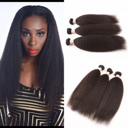 Mongolian Pure Coarse Yaki Human Hair Extensions 3 Pcs Lot Virgin Mongolian Kinky Straight Weave Instock Light Yaki Hair G-EASY Hair
