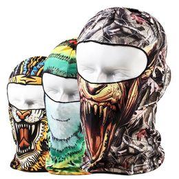 Wholesale 38 Designs Real Tree D Outdoor Sports Bicycle Cycling Motorcycle Masks Ski Hood Hat Veil Balaclava UV Protect Full Face Mask Skull Masks