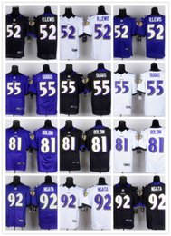 Wholesale Baltimore football Jerseys Ravens Rugby Jerseys R LEWIS SUGGS BOLDIN NGATA white black blue FREESHIPPING