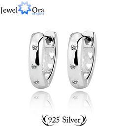 Genuine 925 Sterling Silver Jewelry Elegant Accessories 2014 Women Fashion Lady Stud Earrings Silver 925 (Jewelora Ea100624)