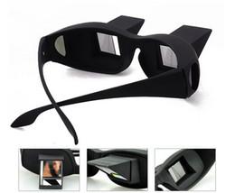 Tv prisma en Línea-La lectura horizontal 100pcs TV sentan los vidrios de la opinión en cama acuestan los anteojos del prisma de la cama los vidrios perezosos # 001