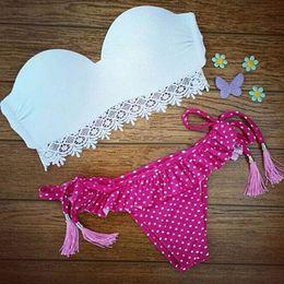 Hot Women's Fringe Bikini Swimwe United States lace printing Bikini Leopard fringed Bikini Sexy ladies swimwear Sling printing bk088