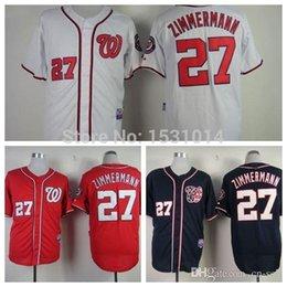 Wholesale 2015 New Washington Nationals Jordan Zimmermann Cool Base Gray White Red Authentic Stitched Jordan Zimmermann Baseball Jersey M XXXL