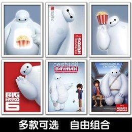 Wholesale 2015 Big Hero Movie Poster Print On Paper Wall Art Stickers Home Decoration X40CM Style Sent Random