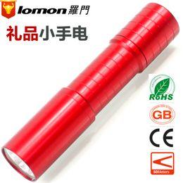 Wholesale Solomon Chinese red LED customized gifts small flashlight mini flashlight hot summer Logo