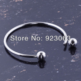 Wholesale Fashion mm Shiny Silver Plated Charms Bracelets Fit European Bead Ending Screw Balls Off To Put Beads On DIY Bangle
