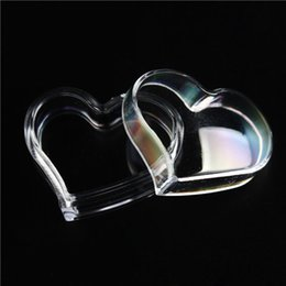 Wholesale Candy Boxes Heart Shaped Clear Heart Plastic Jewelry Box Small Part Storage Case Nail Art Container Organzier cm