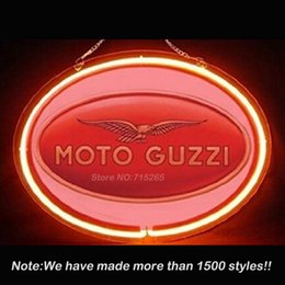 Wholesale Moto Guzzi Services Parts Repair Display Neon Sign Neon Bulbs Store Display Glass Tube Handcraft Advertising Great Gifts x14