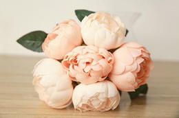 Wedding Favors Wedding Bouquet Sweetheart Silk Flower Bride Holding Artificial Flowers Bouquet Artificial Peony Silk Flowers Weddings SP03