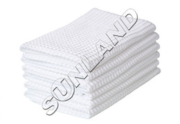 Wholesale Sinland x25cm Fast Drying Microfiber Deep Waffle Weave cleaning Towels dish cloths Microfibre Spa Drying Cloths