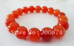 Wholesale BB Tibetan Red Agate Round Beaded wrist bracelets mm girl s gift Natural Stone Beads