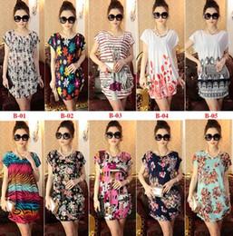 Wholesale 2015 New Hot Cheap Summer Dress Floral Print Vintage Women Plus Size Milk Silk Casual Dress Beach Dress