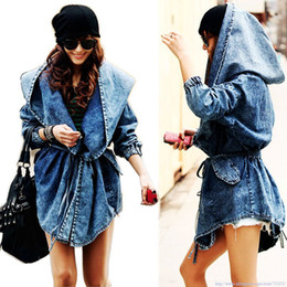 Surprised Fashion Lady denim clothes for women outerwear Hoodie Hooded coat jacket plus large size punk clothing