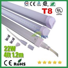 2017 cree llevó la garantía CE RoHS UL integrados de 1,2 m 4 pies T8 22W llevó el tubo 96Leds luz 2400LM llevó la iluminación de reemplazar los tubos fluorescentes de la lámpara + Garantía 3Years 50