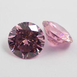 2.5mm-16mm cubic zirconia pink round loose gem stones