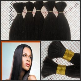 human hair bulk human bulk hair 3bundles per lot,free ship by DHL,silky straight,natural straight good quality human hair,G-EASY