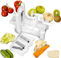 Tri-Blade Plastic Spiral Vegetable Slicer,Potato cutter,Cucumber Graters big size,kitchen cooking tools free shipping