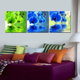 Wholesale 3 Pieces no frame Home decoration Canvas Prints orchid Cartoon tulip windmill house puppy animation flower rose glass dog