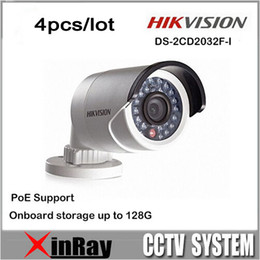 Wholesale Free DHL New Hikvision V5 DS CD2032F I replace DS CD2032 I P POE with SD Card Slot IP Network CCTV Camera Multi language