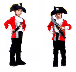 New Year Christmas Costumes Children Pirate Cosplay Halloween Costume Role Children Party Clothes Retail Pirate Costume Kids