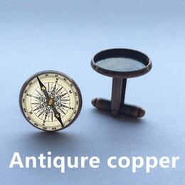 Wholesale Mens Cuff Links , Vintage Brass Compass Design Cuff Link ,CUSTOM Cufflinks ,Men Accessories,men cufflinks high quality