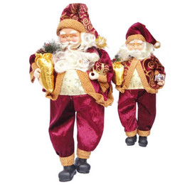 Wholesale Big Discount Christmas Santa Claus Natal Trumpet Ornaments Furnishings Grade Gifts Sitting Decorations toys For The Children cm cm