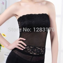 Wholesale New Lingerie women s Sexy underwear vest silk screen lace tube tops black white with removalbe brassiere pad