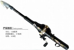 HOT 1.58M 5.2in Folding Fishing rod 0.27M 0.88in folded Fishing Rods bass rod Free fishing line including High quality!