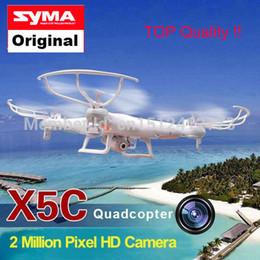 Promotion meilleurs drones de la caméra RC-gros Drone Avec Caméra HD SYMA x5C x5C-1 version améliorée 2.4G 4CH 6-Axis helicopter télécommande RC Quadcopter meilleur cadeau