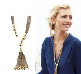 Wholesale Fashion Tassels Necklace Ear Of Wheat Pattern Best Gift For Lady Pendant Long Necklaces