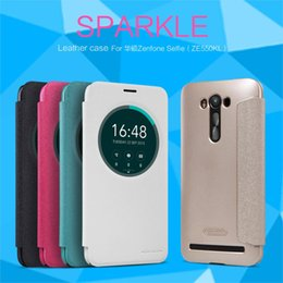 Wholesale Original Nillkin View Window Sparkle Series Leather Case ultra thin Wallet Flip Cover For ASUS Zenfone Laser ZE550KL inch