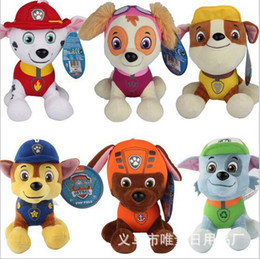 Wholesale 20CM Paw Patrol Toys Kid Plush Doll Dog Puppy Stuffed Toy Ryder Marshall Rubble Chase Rocky Zuma Skye Firemen Gift Action Toy